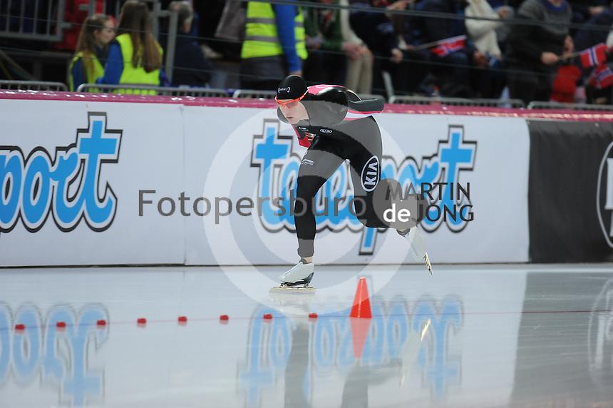 SPEED SKATING: HAMAR: Vikingskipet, 04-03-2017, ISU World Championship Allround, 5000m Men, Benjamin Donnelly (CAN), ©photo Martin de Jong