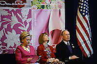 www.acepixs.com<br /> February 16, 2017  New York City<br /> <br /> Hillary Clinton, Anna Wintour and Michael Bloomberg at the press conference for The Oscar de la Renta Forever Stamp First-Day-of-Issue Stamp Dedication Ceremony, Vanderbilt Hall at Grand Central Station on February 16, 2017 in New York City.<br /> <br /> Credit: Kristin Callahan/ACE Pictures<br /> <br /> <br /> Tel: 646 769 0430<br /> Email: info@acepixs.com