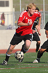 Palos Verdes, CA 02/03/12 - Clay Wolf (Palos Verdes #12) in action during the Peninsula vs Palos Verdes boys varsity soccer game.