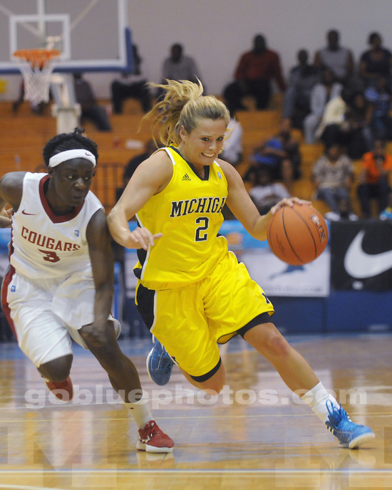 The University of Michigan women's basketball team beat Washington State 69-39 in the second round of the 2011 Paradise Jam in Saint Thomas, US Virgin Islands, on November 25, 2011.