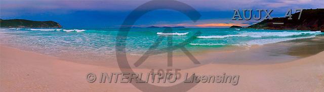 Dr. Xiong, LANDSCAPES, panoramic, photos, sunset, bay, Australia(AUJX47,#L#)