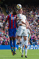 Swansea City's Sam Clucas battles for possession with Crystal Palace's Christian Benteke     <br /> <br /> <br /> Photographer Craig Mercer/CameraSport<br /> <br /> The Premier League - Crystal Palace v Swansea City - Saturday 26th August 2017 - Selhurst Park - London<br /> <br /> World Copyright &copy; 2017 CameraSport. All rights reserved. 43 Linden Ave. Countesthorpe. Leicester. England. LE8 5PG - Tel: +44 (0) 116 277 4147 - admin@camerasport.com - www.camerasport.com