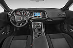 Stock photo of straight dashboard view of a 2015 Dodge Challenger SXT 2 Door Coupe Dashboard