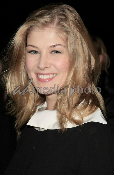 "06 December, 2007 - Beverly Hills, California - Rosamund Pike . ""Atonement"" Los Angeles Premiere held at the Academy Theatre. Photo Credit: Russ Elliot/AdMedia"