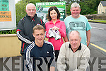 The first ever 10km race in Glenbeigh will take place on July 29th to raise funds for the local GAA club. .Front L-R Aidan O'Shea and Peadar O'Sullivan .Back L-R Con, Helen and Padraig O'Sullivan.
