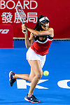 Priscilla Hon of Australia in action during the Prudential Hong Kong Tennis Open 2018 match between Elina Svitolina (UKR) and Priscilla Hon (AUS) at Victoria Park Tennis Stadium on October 09 2018 in Hong Kong, Hong Kong. Photo by Marcio Rodrigo Machado / Power Sport Images
