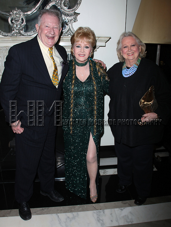 Debbie Reynolds &amp; Harvey Evans &amp; Barbara Cook<br />attending the Opening Night of Debbie Reynolds at the Cafe Carlyle, Carlyle Hotel in New York City.<br />June 3, 2009