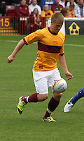 Henrik Ojamaa in the Motherwell v Everton friendly match at Fir Park, Motherwell on 21.7.12 for Steven Hammell's Testimonial.