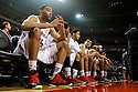 December 14, 2013: Walter Pitchford (35) of the Nebraska Cornhuskers waiting for introductions before the game against Arkansas State Red Wolves at the Pinnacle Bank Areana, Lincoln, NE. Nebraska defeated Arkansas State 79 to 67.
