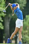 HOUSTON, TX - MAY 19: Jamie Freedman of Nova Southeastern tees off during the Division II Women's Golf Championship held at Bay Oaks Country Club on May 19, 2018 in Houston, Texas. (Photo by Justin Tafoya/NCAA Photos via Getty Images)