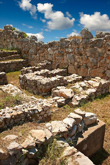 Tiryns (  or ) Mycenaean city archaeological site,  Peloponnesos, Greece. A UNESCO World Heritage Site