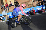 Sacha Modolo (ITA) EF Education First on the San Luca climb during Stage 1 of the 2019 Giro d'Italia, an individual time trial running 8km from Bologna to the Sanctuary of San Luca, Bologna, Italy. 11th May 2019.<br /> Picture: Eoin Clarke | Cyclefile<br /> <br /> All photos usage must carry mandatory copyright credit (© Cyclefile | Eoin Clarke)
