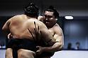 Sumo: Annual sumo tournament dedicated to Yasukuni Shrine in Tokyo