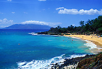 Little beach, known as  a nude beach on the other side of the rock from big beach, Makena, Maui