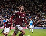 Robbie Muirhead scores his second goal and celebrates