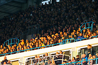 Leeds United fans are bathed in afternoon sunshine in the East Stand<br /> <br /> Photographer Alex Dodd/CameraSport<br /> <br /> The EFL Sky Bet Championship - Leeds United v Bristol City - Saturday 24th November 2018 - Elland Road - Leeds<br /> <br /> World Copyright &copy; 2018 CameraSport. All rights reserved. 43 Linden Ave. Countesthorpe. Leicester. England. LE8 5PG - Tel: +44 (0) 116 277 4147 - admin@camerasport.com - www.camerasport.com
