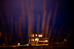 TIME, Arapahoe County Assignment..Small towns in far eastern Arapahoe County.  Byers, Deer Trail, Aurora, Watkins...Western towns, urban.  Littleton, Aurora...A nearly-completed tract house marks the furthest edge of eastern development on the fringes of Aurora, Colorado.  Aurora is Arapahoe County's largest and most populous municipality and is currently experiencing a construction boom..