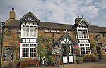 The Old Nags Head pub, Edale, Peak district national park, Derbyshire, England