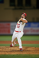 Palm Beach Cardinals relief pitcher Kodi Whitley (32) during a Florida State League game against the Daytona Tortugas on April 11, 2019 at Roger Dean Stadium in Jupiter, Florida.  Palm Beach defeated Daytona 6-0.  (Mike Janes/Four Seam Images)