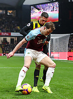 Burnley's Ashley Barnes competing with Watford's Jose Holebas<br /> <br /> Photographer Andrew Kearns/CameraSport<br /> <br /> The Premier League - Watford v Burnley - Saturday 19 January 2019 - Vicarage Road - Watford<br /> <br /> World Copyright © 2019 CameraSport. All rights reserved. 43 Linden Ave. Countesthorpe. Leicester. England. LE8 5PG - Tel: +44 (0) 116 277 4147 - admin@camerasport.com - www.camerasport.com