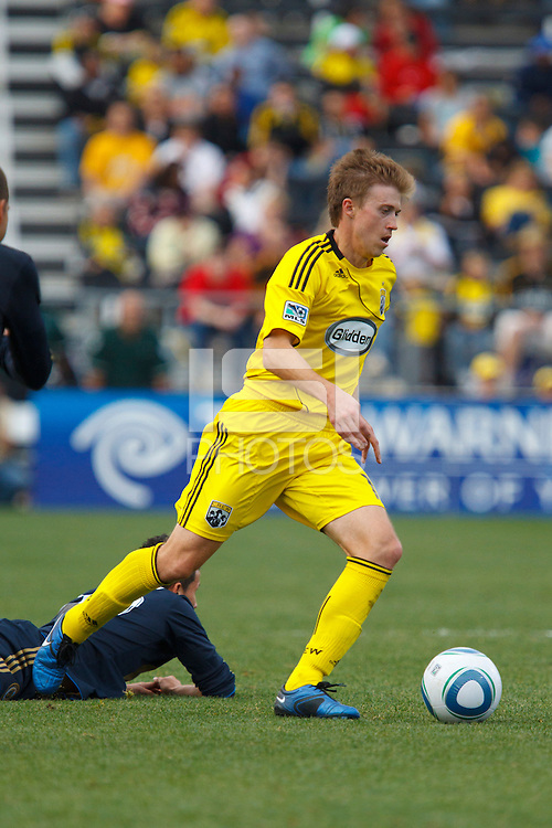 24 OCTOBER 2010:  Columbus Crew midfielder Brian Carroll (16) during MLS soccer game against the Philadelphia Union at Crew Stadium in Columbus, Ohio on August 28, 2010.