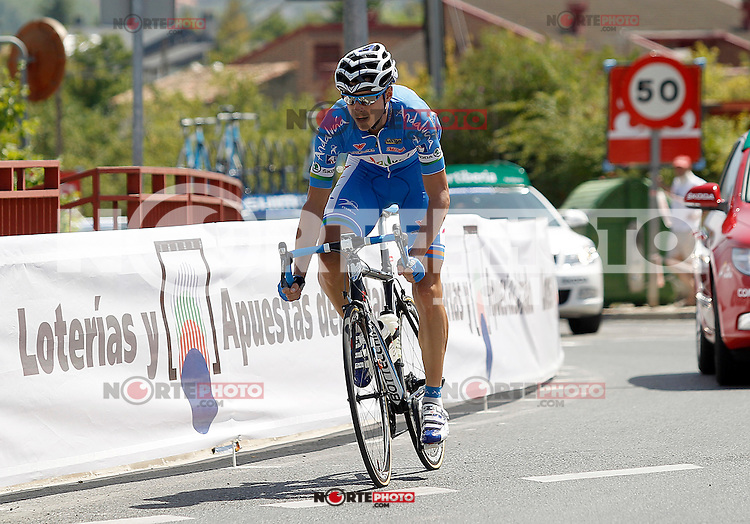Javier Chacon escaped from the group during during the stage of La Vuelta 2012 between Logroño and Logroño.August 22,2012. (ALTERPHOTOS/Acero) /NortePhoto.com<br />