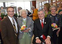Sarnia's 100th birthday celebration at city hall, Mayor Mike Bradley, David Onley, Wilma McNeil