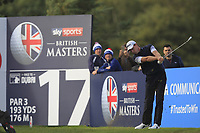 Brett Rumford (AUS) on the 17th tee during Round 2 of the Sky Sports British Masters at Walton Heath Golf Club in Tadworth, Surrey, England on Friday 12th Oct 2018.<br /> Picture:  Thos Caffrey | Golffile<br /> <br /> All photo usage must carry mandatory copyright credit (&copy; Golffile | Thos Caffrey)