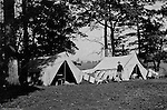 Gettysburg PA: View of McKeesport Boy's Brigade camping at Gettysburg. Brady Stewart was in Gettysburg with the Pittsburgh-area Boy's Brigade. They were in Gettysburg for 40th anniversary of the battle of Gettysburg. The Boy's Brigade was a church-based youth organization started in the late 1800s in Scotland - 1903