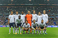 Timmy Chandler, Clint Dempsey, Maurice Edu, Tim Howard, Clarence Goodson, Carlos Bocanegra, Brek Shea (back row from left), Jozy Altidore, Kyle Beckerman, Steve Cherundolo and Danny Williams stand for the team picture prior to the friendly match France against USA at the Stade de France in Paris, France on November 11th, 2011.
