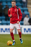 New signing, Kevin O'Connor of Fleetwood Town, warms up ahead of the Sky Bet League 1 match between Gillingham and Fleetwood Town at the MEMS Priestfield Stadium, Gillingham, England on 27 January 2018. Photo by David Horn.