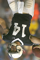 02 September 2006:  Penn State QB Anthony Morelli (14) throws a pass downfield.&amp;#xD;The Penn State Nittany Lions defeated the Akron Zips 34-16 September 2, 2006 at Beaver Stadium in State College, PA.&amp;#xD;<br />