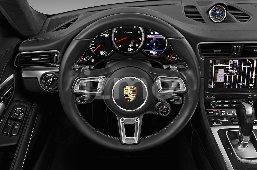 Car pictures of steering wheel view of a 2017 Porsche 911 Turbo 2 Door Coupe Steering Wheel