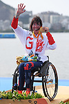 Jeanette Chippington (GBR), <br /> SEPTEMBER 15, 2016 - Canoe : <br /> Women's Canoe Sprint KL1 Medal Ceremony <br /> at Lagoa Stadium<br /> during the Rio 2016 Paralympic Games in Rio de Janeiro, Brazil.<br /> (Photo by AFLO SPORT)