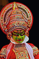 Performer in traditional Indian dress, New Delhi, India