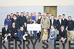 CHEQUE PRESENTATION: Members of the Kerry farmers hunt club present a cheque for EUR6,000 to the Irish Guide Dogs Association at their hunt in Killorglin on Sunday.   Copyright Kerry's Eye 2008