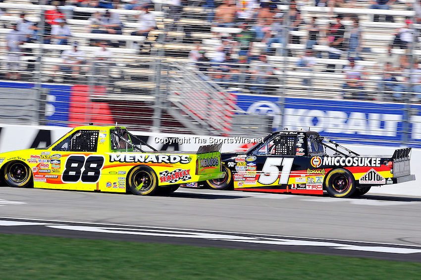 Mar 07, 2009; 2:48:39 PM; Hampton, GA, USA; NASCAR Camping World Truck Series race for the American Commercial Lines 200 at the Atlanta Motor Speedway.  Mandatory Credit: (thesportswire.net)