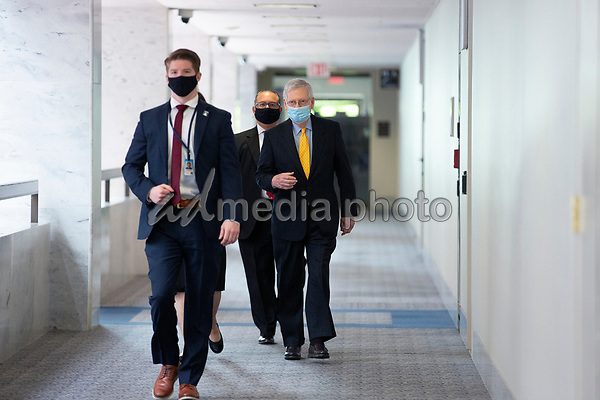 United States Senate Majority Leader Mitch McConnell (Republican of Kentucky) walks to the GOP Policy Luncheons at the Hart Senate Office Building in Washington D.C., U.S. on Thursday, May 21, 2020. Credit: Stefani Reynolds / CNP/AdMedia