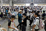 Visitors gather at the ''Comic Market 88 Summer 2015'' exhibition at Tokyo Big Sight on August 14, 2015, Tokyo, Japan. Thousands of manga and anime fans attended the first day of the Comic Market 88 (Comiket) at Tokyo Big Sight. The Comic Market was established in 1975 to allow fans and artists to interact and focuses on manga, anime, gaming and cosplay. The exhibition is held from August 14th to 16th and Comiket organisers expect more than 500,000 visitors to attend. (Photo by Rodrigo Reyes Marin/AFLO)
