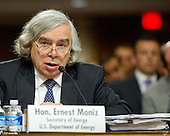 United States Secretary of Energy Ernest Moniz appears before the US Senate Committee on Foreign Relations for the hearing to examine and review the Iran nuclear agreement on Capitol Hill in Washington, DC on Thursday, July 23, 2015.<br /> Credit: Ron Sachs / CNP