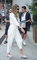 NEW YORK, NY August 09: Jessica Alba arriving back from People TV in New York City on August 09, 2018. <br /> CAP/MPI/RW<br /> &copy;RW/MPI/Capital Pictures