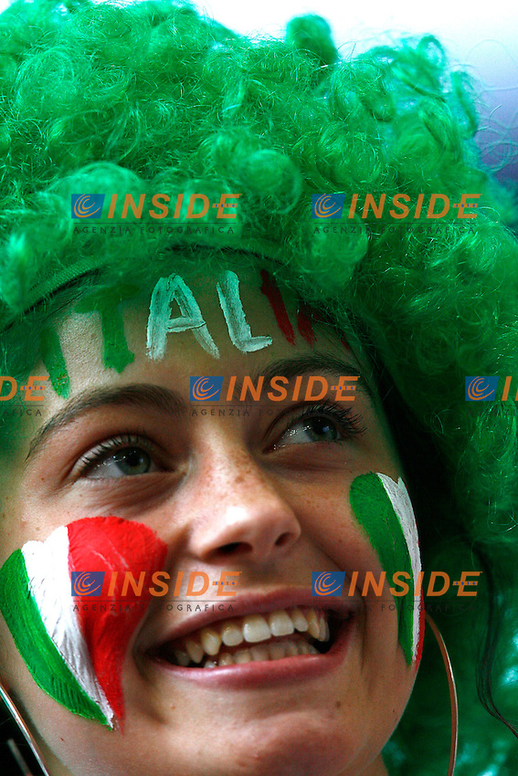 Hamburg 30/6/2006 World Cup 2006 Quarti di finale Italia Ucraina 3-0.Photo Andrea Staccioli Insidefoto.Italian fan.tifosa italiana