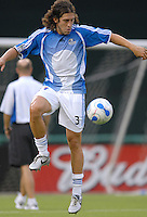 Kansas City Wizards defender and captain of the team Nick Garcia during pre-game warm ups. DC United defeated the Kansas City Wizards 1-0, Saturday, June 24, 2006.
