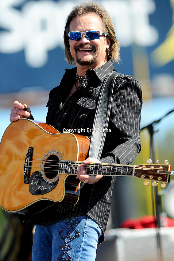 September 23, 2012 Travis Tritt performs at the NASCAR Sprint Cup Series Sylvania 300 race held at  the New Hampshire Motor Speedway in Loudon, New Hampshire.  Eric Canha/CSM