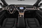 Stock photo of straight dashboard view of 2016 JEEP Grand-Cherokee Overland 5 Door Suv Dashboard