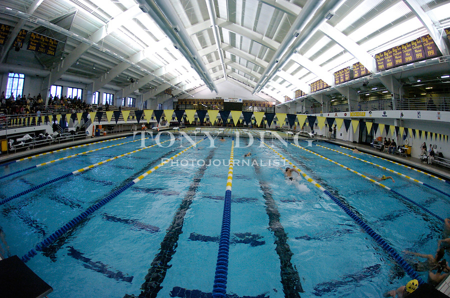 during the Wolverines' win over Northwestern on Friday, January 21, 2005 at Canham Natatorium in Ann Arbor, Mich. (Photo by TONY DING/The Michigan Daily)