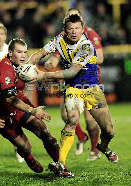 Pix: Chris Mangnall /Swpix.com, Rugby League, Super League. 13/02/10 Castleford Tigers v Warrington Wolves....picture copyright>>Simon Wilkinson>>07811267 706>>....Warrington's (6) Lee Briers