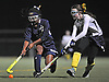 Baldwin No. 15 Nadia Elcock, left, and Massapequa No. 2 Jennifer Cooney battle for possession during the Nassau County varsity field hockey Class A final at Adelphi University on Saturday, October 31, 2015. Massapequa won by a score of 2-1.<br /> <br /> James Escher<br /> <br /> James Escher