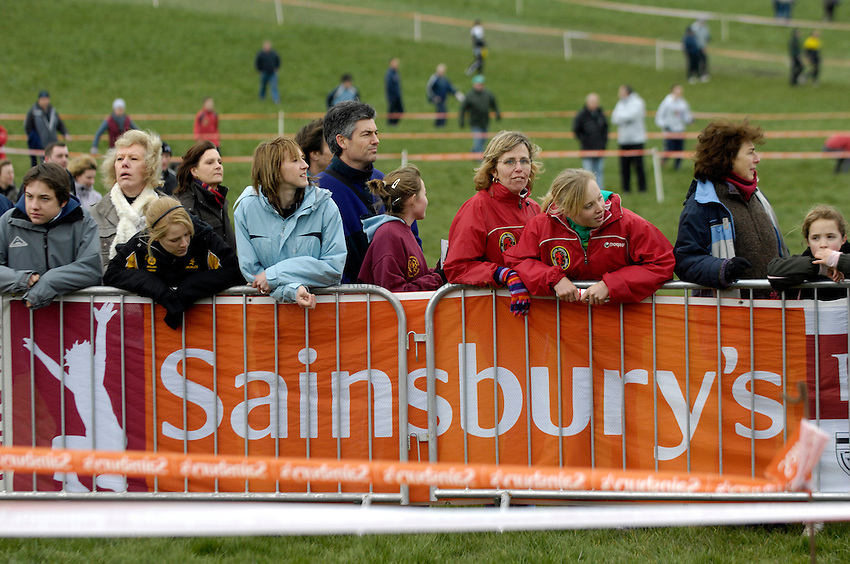 Photo: Jed Wee/Sportsbeat Images...Sainsbury's English Schools Cross Country. 24/03/2007.....Spectators watch the action keenly.