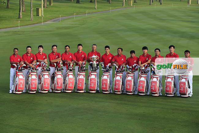 The Asian Team photo before Pro-Am Day of the 2016 Eurasia Cup held at the Glenmarie Golf &amp; Country Club, Kuala Lumpur, Malaysia. 14th January 2016.<br /> Picture: Eoin Clarke | Golffile<br /> <br /> <br /> <br /> All photos usage must carry mandatory copyright credit (&copy; Golffile | Eoin Clarke)